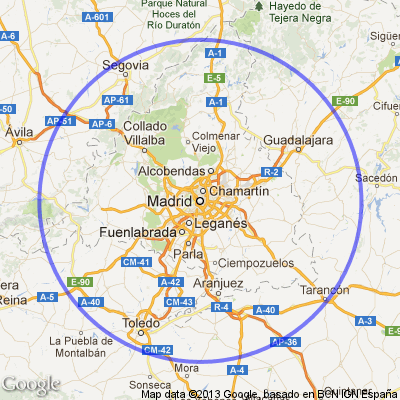 Mapa Madrid Y Alrededores  My blog